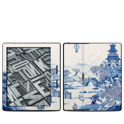 Amazon Kindle Oasis Skin - Blue Willow