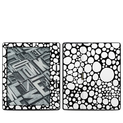 Amazon Kindle Oasis Skin - BW Bubbles
