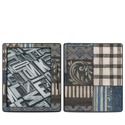 Amazon Kindle Oasis Skin - Country Chic Blue
