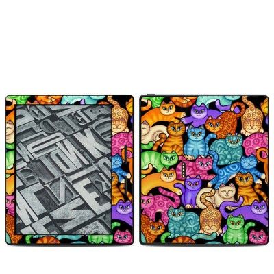 Amazon Kindle Oasis Skin - Colorful Kittens