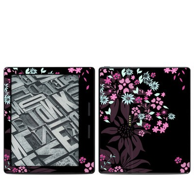 Amazon Kindle Oasis Skin - Dark Flowers
