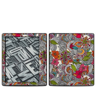 Amazon Kindle Oasis Skin - Doodles Color