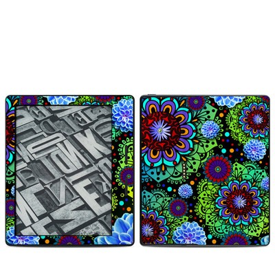 Amazon Kindle Oasis Skin - Funky Floratopia