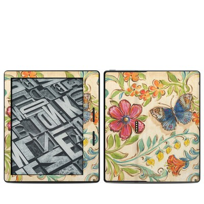 Amazon Kindle Oasis Skin - Garden Scroll