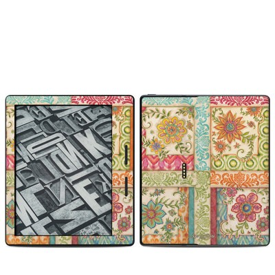 Amazon Kindle Oasis Skin - Ikat Floral