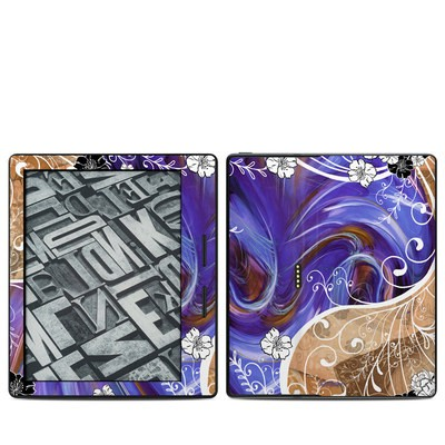 Amazon Kindle Oasis Skin - Purple Waves