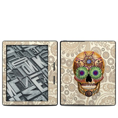 Amazon Kindle Oasis Skin - Sugar Skull Bone