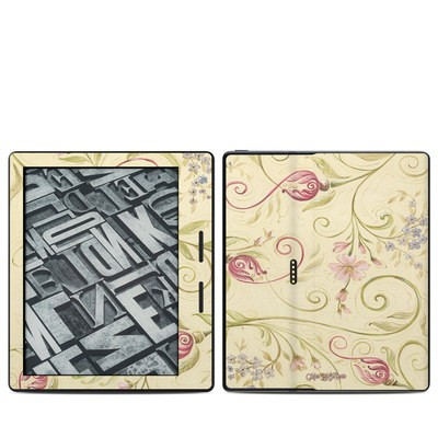 Amazon Kindle Oasis Skin - Tulip Scroll