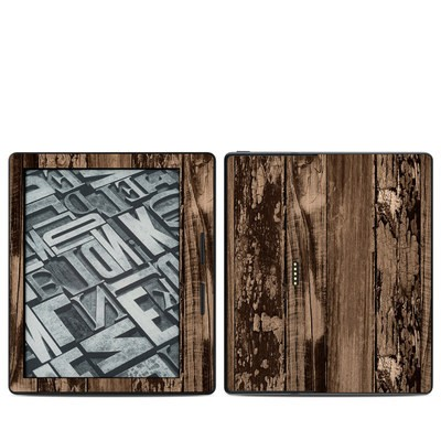 Amazon Kindle Oasis Skin - Weathered Wood