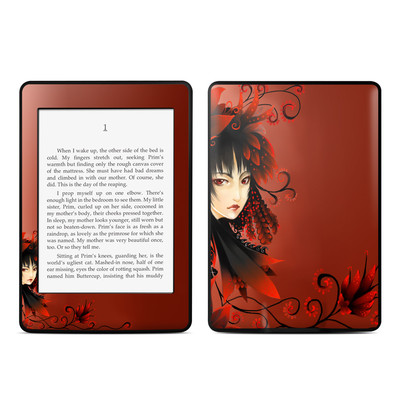 Amazon Kindle Paperwhite Skin - Black Flower