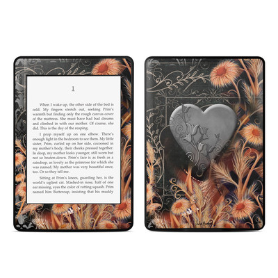 Amazon Kindle Paperwhite Skin - Black Lace Flower