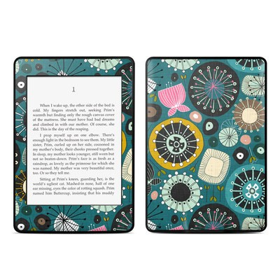 Amazon Kindle Paperwhite Skin - Blooms Teal