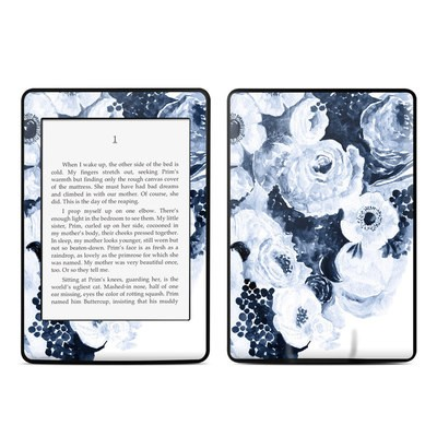 Amazon Kindle Paperwhite Skin - Blue Blooms