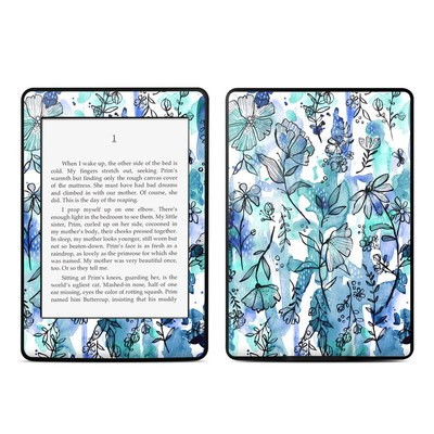 Amazon Kindle Paperwhite Skin - Blue Ink Floral