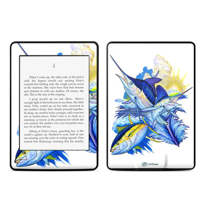 Amazon Kindle Paperwhite Skin - Blue White and Yellow
