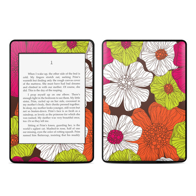 Amazon Kindle Paperwhite Skin - Brown Flowers
