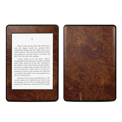 Amazon Kindle Paperwhite Skin - Dark Burlwood