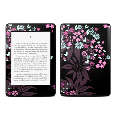 Amazon Kindle Paperwhite Skin - Dark Flowers