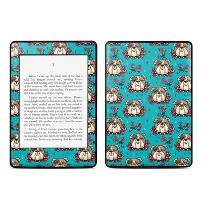 Amazon Kindle Paperwhite Skin - Bulldogs and Roses