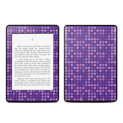 Amazon Kindle Paperwhite Skin - Dots Purple