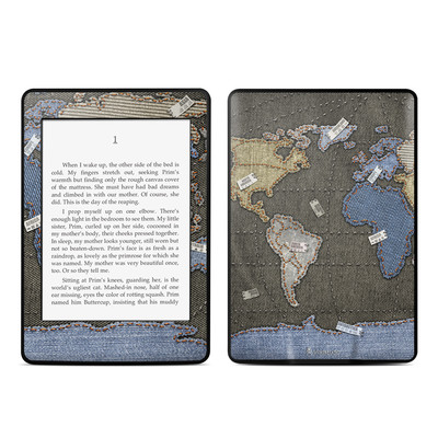 Amazon Kindle Paperwhite Skin - Jean Map