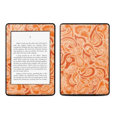 Amazon Kindle Paperwhite Skin - Paisley In Orange