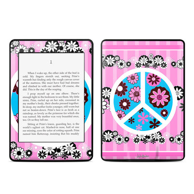 Amazon Kindle Paperwhite Skin - Peace Flowers Pink