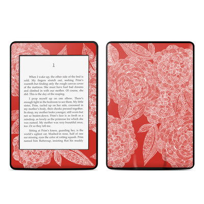 Amazon Kindle Paperwhite Skin - Red Dahlias