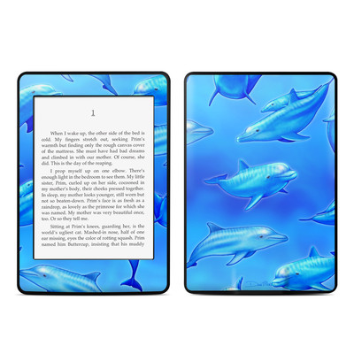 Amazon Kindle Paperwhite Skin - Swimming Dolphins