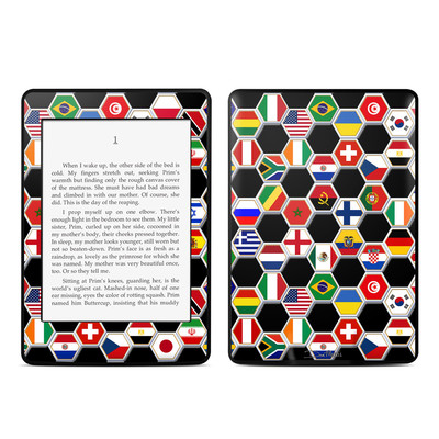 Amazon Kindle Paperwhite Skin - Soccer Flags