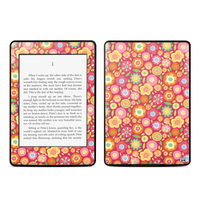 Amazon Kindle Paperwhite Skin - Flowers Squished