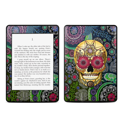 Amazon Kindle Paperwhite Skin - Sugar Skull Paisley