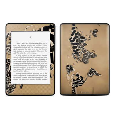 Amazon Kindle Paperwhite Skin - Type Map