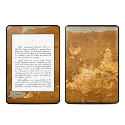 Amazon Kindle Paperwhite Skin - Upside Down Map