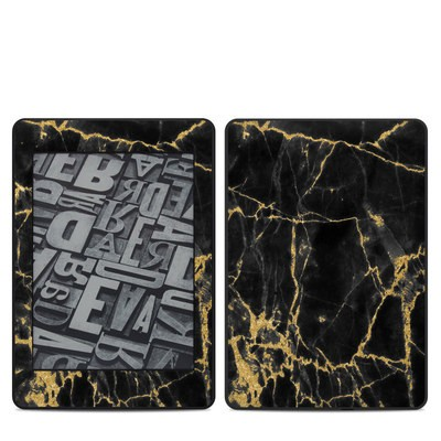 Amazon Kindle Paperwhite 2018 Skin - Black Gold Marble