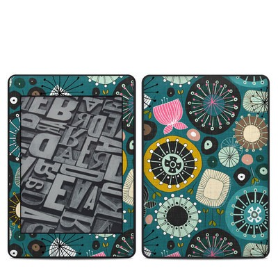 Amazon Kindle Paperwhite 2018 Skin - Blooms Teal