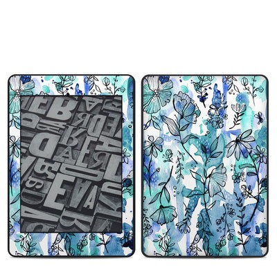 Amazon Kindle Paperwhite 2018 Skin - Blue Ink Floral
