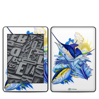 Amazon Kindle Paperwhite 2018 Skin - Blue White and Yellow