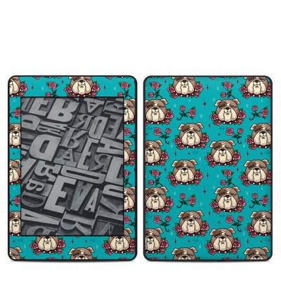 Amazon Kindle Paperwhite 2018 Skin - Bulldogs and Roses