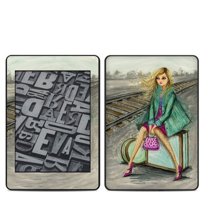 Amazon Kindle Paperwhite 2018 Skin - Lulu Waiting by the Train Tracks