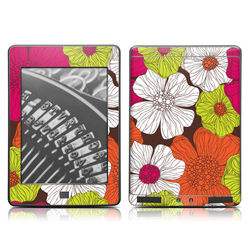 Kindle Touch Skin - Brown Flowers