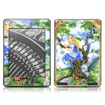 Kindle Touch Skin - Alice's Tea Time