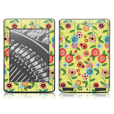 Kindle Touch Skin - Button Flowers