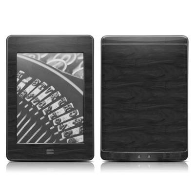 Kindle Touch Skin - Black Woodgrain