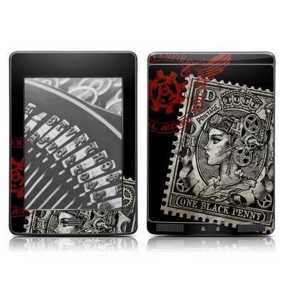 Kindle Touch Skin - Black Penny