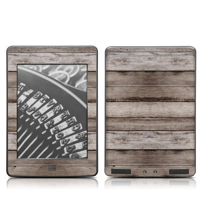 Kindle Touch Skin - Barn Wood