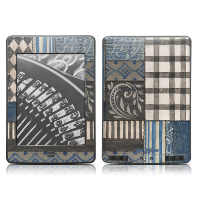 Kindle Touch Skin - Country Chic Blue