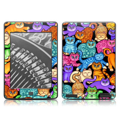 Kindle Touch Skin - Colorful Kittens
