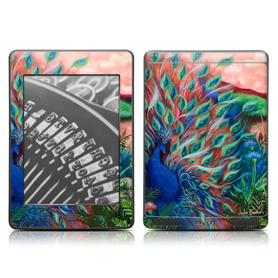 Kindle Touch Skin - Coral Peacock