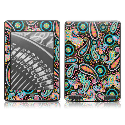 Kindle Touch Skin - Crazy Daisy Paisley